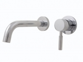 WALL MOUNT SINGLE LEVER BASIN SET CHROME