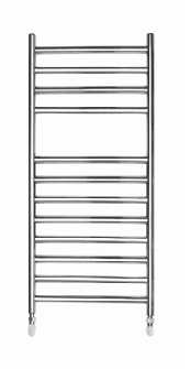 700 X 400 ROUND TUBE STAINLESS STEEL LADDER RADIATOR STRAIGHT