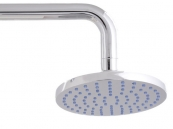 RUB CLEAN 180MM ROUND BRASS SHOWER HEAD CHROME