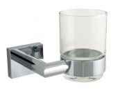 SINGLE TUMBLER TOOTH BRUSH  HOLDER CHROME