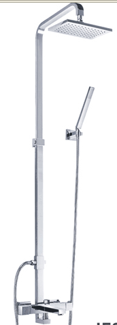 EXPOSED THERMO BATH SHOWER MIXER & SHOWER HEAD CHROME
