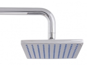 RUB CLEAN 170MM SQUARE BRASS SHOWER HEAD CHROME
